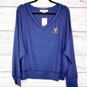UVA Virginia Cavaliers 'Meredith' v neck pullover